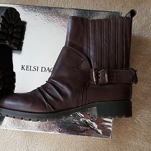 KELSI DAGGER Bronte Brown Leather Boots